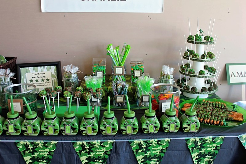 Army Theme Birthday Army Birthday Party Ideas