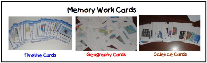 Memory Work Cards