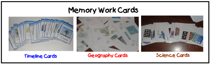 Memory Work Cards
